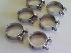 6 Vintage Antique Adjustable Nos Ideal Hose Clamps Stainless Steel 51-13
