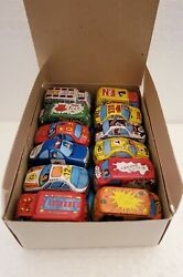 Vintage Tin Friction Toy Cars Set Of 24 2 Of Each By Agglo