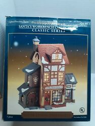 Santaandrsquos Workbench Christmas Village 2000 The Silver Lining Cord And Light With Box