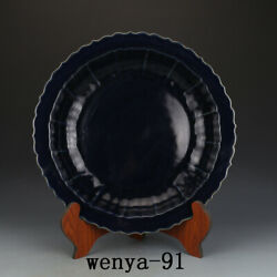 3 Old China Antique Ming Dynasty Xuande Year System Blue Glaze Disc