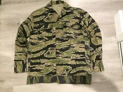 Vietnam War Tiger Stripe Jacket Marked A-m Altered On Sides,sleeves To A Size40s