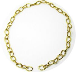 Rare Excavated Renaissance Gold Chain Section 16th - 17th Century Ad