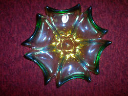 Venetian Glass Made In Italy Decorative Glass Bowl