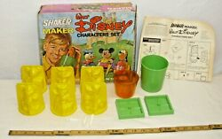 Ideal Walt Disney Shake Maker Character Toy Playset Boxed Mickey, Donald Duck
