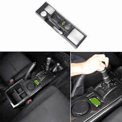Abs Carbon Fiber Middle Console Gear Shift Panel For Toyota Fj Cruiser 2007-2014