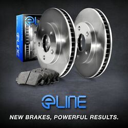 [front] Eline Replacement Brake Rotors And Heavy Duty Brake Pads