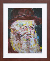 Rebbe Giclee Archival Print Menachem Mendel Schneerson Signed And Editioned