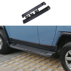 Black Running Board Side Pedals Foot Pedal 2pcs For Toyota Fj Cruiser 2007-2014