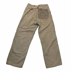 Vintage 1930s Swedish Military Army Buckle Back Work Trousers Pants 1940s Wwii