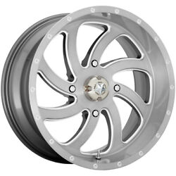 4-msa Offroad M36 Switch 22x7 4x137 +0mm Brushed Wheels Rims 22 Inch
