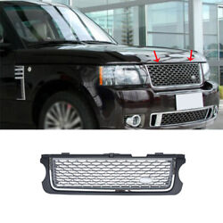 For Range Rover 2005-2012 Grayandsilver Front Center Mesh Grille Grill Cover 1pcs