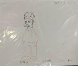 The Simpsons Apu Such A Picnic Original Production Drawing Animation Art Uf