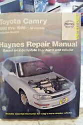 Haynes Manual 92006 Info Fortoyota Camary 1992-1996 Book In Plastic Cover N/o/s
