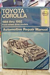 Haynes Manual 92035 Info For Toyota Corolla 1984-1992 Book In Plastic Cover N/o/