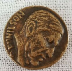 1918 Wilson Coin Medal Right Before Might 1.25