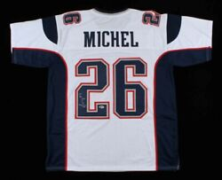 Sony Michel Signed Autographed New England Patriots Jersey Beckett Coa