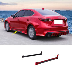 Fit For Mazda 3 Axela 2014-2019 Red Exterior Door Panel Trim Side Skirts 2pcs