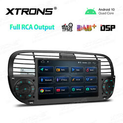 7 Android 10 4-core 2+32gb Dsp Car Stereo Radio Gps Rca For Fiat 500 2007-2015
