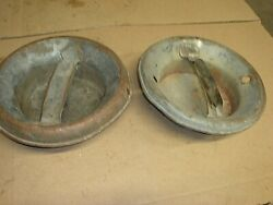 2 Vintage Milk Dairy Cream Can Lid Only With Handle Metal
