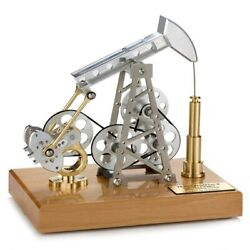 Stirling Pumping Unit Drilling Oil Well Model Diy Assembled Metal Mechanical Toy