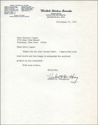 Hubert H. Humphrey - Typed Letter Signed 11/17/1975