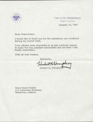 Hubert H. Humphrey - Typed Letter Signed 01/15/1968