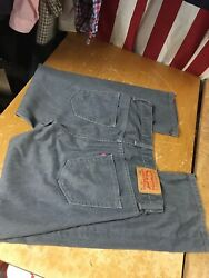 569 Gray Charcoal Denim Loose Straight Jeans Mens Tag 30x30 Fit 31-32x28