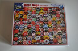 White Mountain Puzzles Beer Bottle Caps 550 Piece Puzzle Brand New Sealed