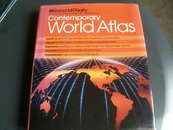 Rand Mcnally Contemporary World Atlas Hardback 1988