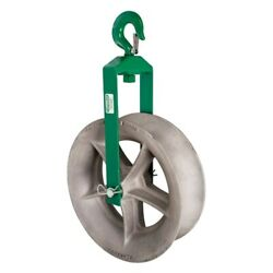 Greenlee 8018 18 Cable Puller Hook Sheave Unit With 8,000 Lbs Capacity