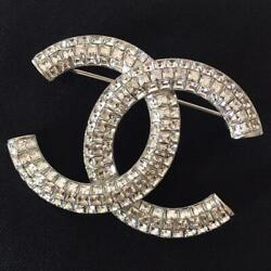Pre-owned Unused Rhinestone Strass Brooch Silver Plated Material 522/sk