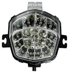 Bike It Led Rear Tail Light With Clear Lens And Integral Indicators - S072