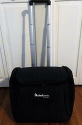 Tupperware Chef Series Black Tote With Wheels And Telescoping Handle + Apron New