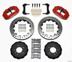 Wilwood Narrow Superlite 6r Front Hat Kit 13.06in Drilled Red E36 Bmw M3 140-87