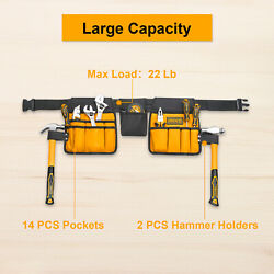Ingco Electrician Tool Belt Pouch Work Apron Tool Bag For Construction