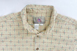 Territory Ahead Multicolor Abstract Mens Button Up Shirt Small