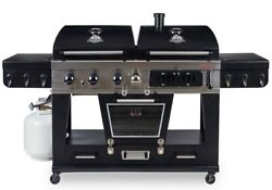 Pit Boss Memphis Ultimate 4-in-1 Gas And Charcoal Combo Grill With Smoker