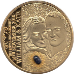 2011 Royal Wedding William And Kate The Wedding Engagement Ring Coin Coa