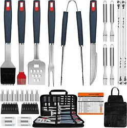 Bbq Grill Accessories Heavy Duty Grill Utensils 31 Pcs Set Extra Thick Stainless