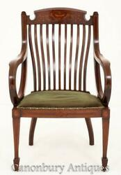 Antique Sheraton Revival Arm Chair Elbow Chairs 1890