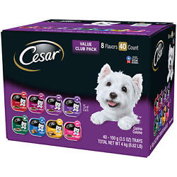 Cesar Canine Cuisine Wet Dog Food 8 Flavor Variety Pack Classic Loaf In Sauce