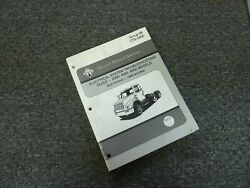 2000 International 4700 4800 4900 8100 Truck Electrical Troubleshooting Manual