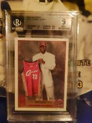 2003-04 Topps Lebron James Rookie Rc 221 Bgs 9 Mint