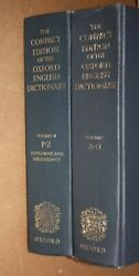 The Compact Edition Of The Oxford English Dictionary 2 Volumes Set