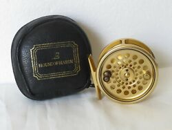Hardy Gold Sovereign 5/6/7 Reel In Hardy Leather/wool Lined Case