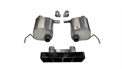 Corsa 2.75in V-b Exhaust Sport Dual Rear Exit Polygon Black Tips 2014 For Chevy