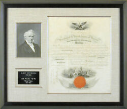 James Buchanan - Naval Appointment Signed 01/27/1858 Co-signed By Isaac Toucey