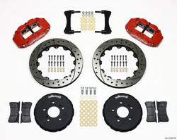 Wilwood Narrow Superlite 6r Front Hat Kit 12.88in Drill Red For Honda S2000 140