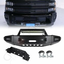 For 15-17 Chevrolet Silverado 2500 Steel Front Bumper Complete Assembly