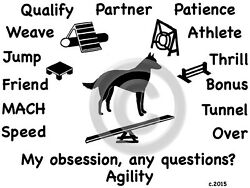Belgian Malinois Dog Agility or Obedience ObsessionQuestions? T shirt Choice